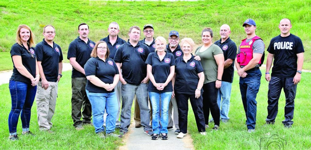 Members of the 2019 Fairview Heights Police Department Citizens Academy enjoyed many activities and a couple of Interesting field trips. They are shown here with instructors from left, far left, Amber Hopkins and Ryan Weisenborn, and, far right, Tim Birckhead and Jon Frederich.
