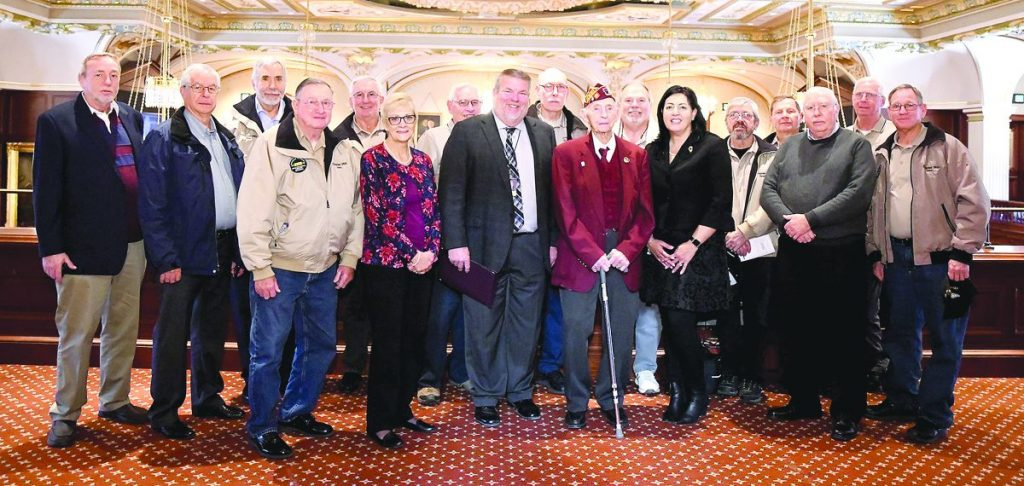 Vince Rolves is pictured at the capitol with fellow Clinton County Veterans, their spouses, and Illinois Department of Veterans' Affairs Director, Linda Chapa LaVia. Submitted photo