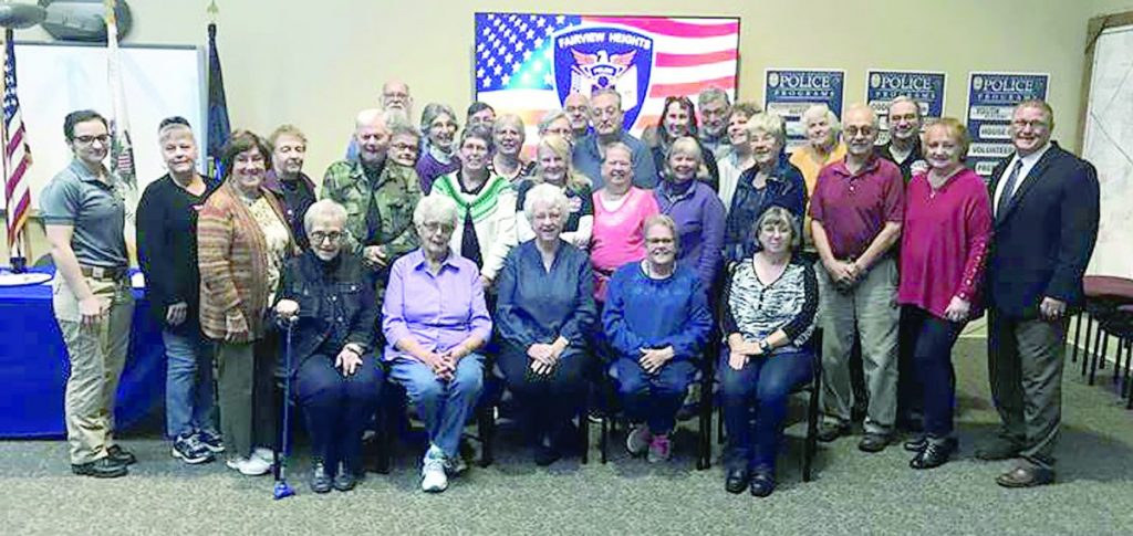 A total of 33 people graduated from the 2019 Fairview Heights Police Department Senior Academy which concluded in late October and was coordinated by for the first time this year by Patrol Officer Alicia Compton, left.