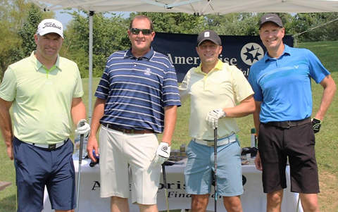 Members of the Rice Sullivan A flight winning team in the Metro-East Regional Chamber of Commerce golf tournament included, from left, Mark Maxim, Doug Martin, Shane Moskop and Bill Dixon.